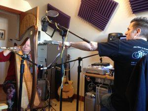 Recording with Dan Kobale